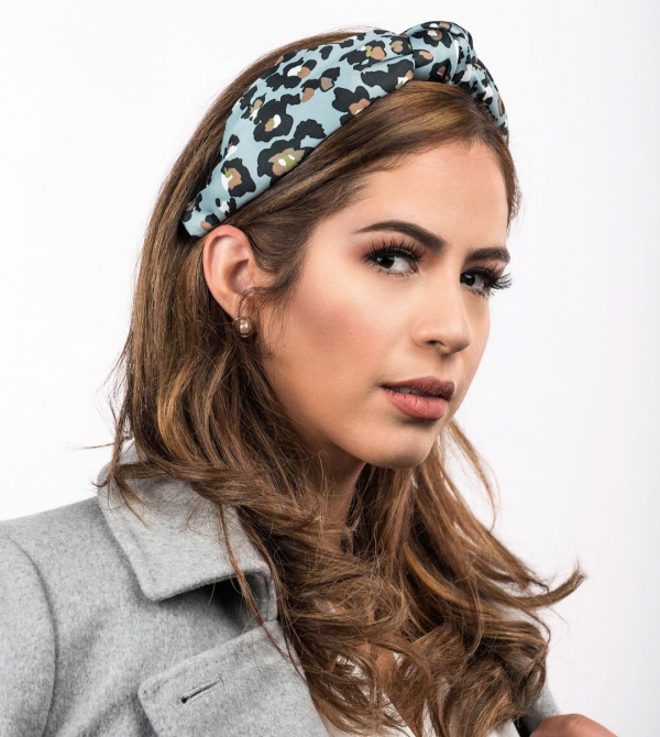 Leopard-Pattern Silk Headband