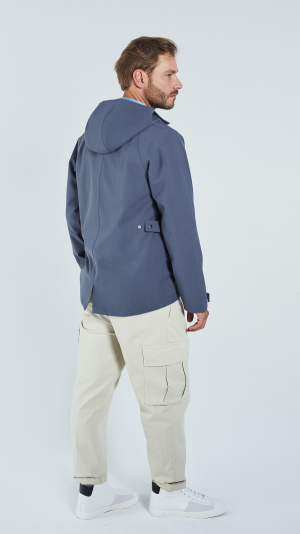 Unisex Grey Leisure Raincoat - recycled materials 2