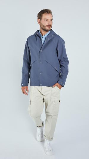 Unisex Grey Leisure Raincoat - recycled materials 1