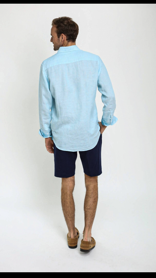 turquoise_linen_shirt_with_african_fabric_trim_4