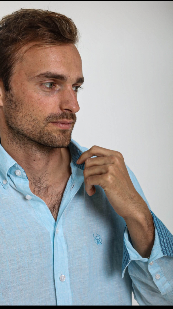 turquoise_linen_shirt_with_african_fabric_trim_5