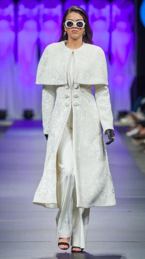 White Plush Coat