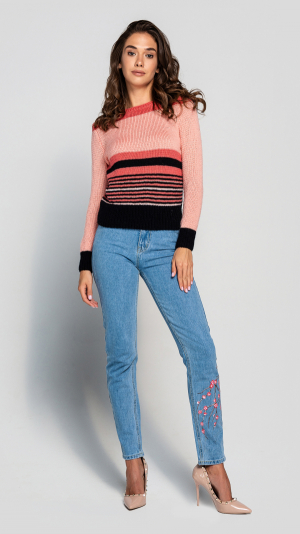 Women's Wool Stripe Sweater 2