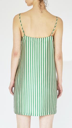 Striped Silk Slip Dress 2