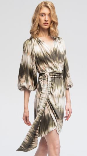 Batik Summer Viscose Dress 1