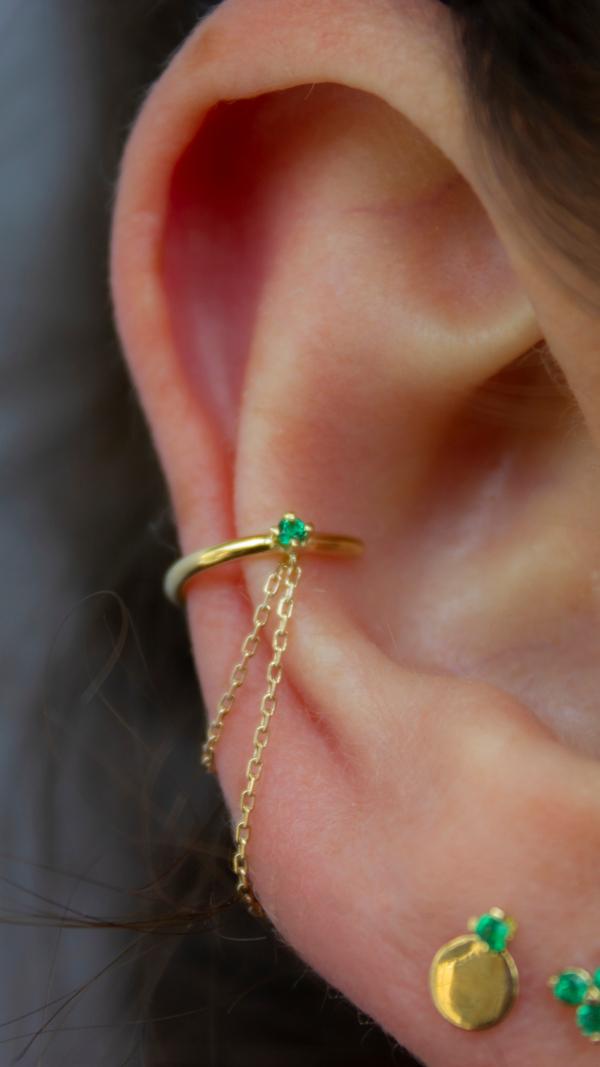 elfin_diamond_emerald_chain_earring_single