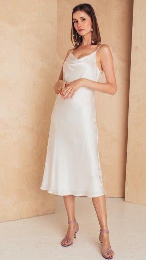 Midi Silk Slip Dress 1