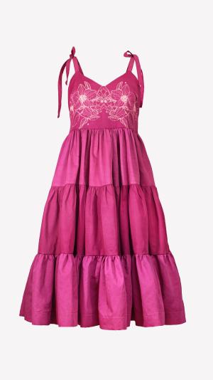 Willow dress in magenta 2