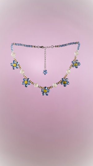 Forget Me Not Necklace 1