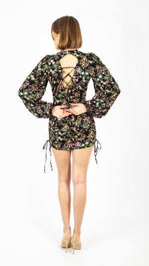 Draped Floral Dress 2