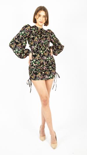 Draped Floral Dress 1