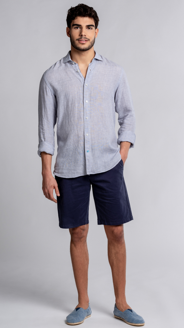 KRABI Checked Linen Shirt 2