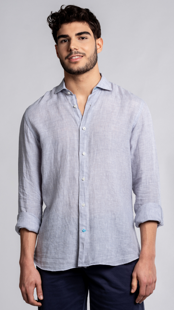 KRABI Checked Linen Shirt 1