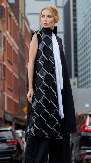 Long fashion vest coat 1