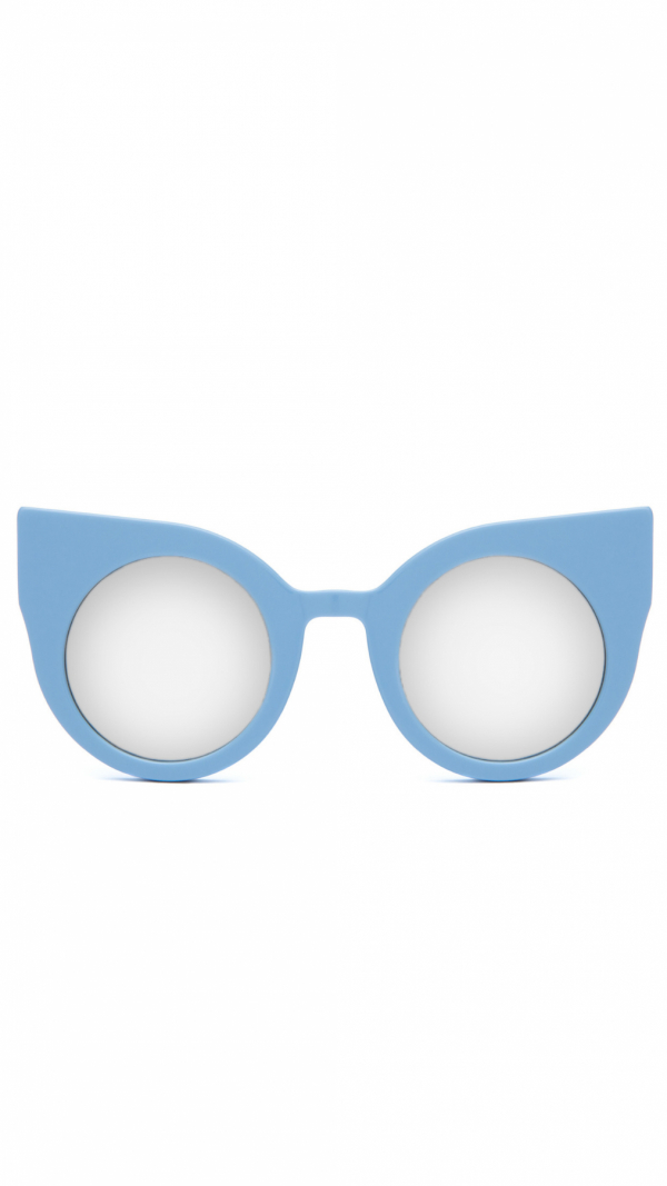 CURIOUS Baby Blue frame + Mirrored lenses 2