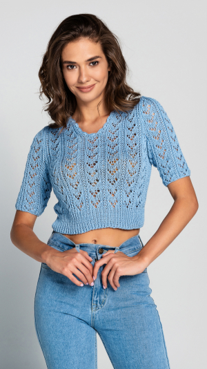 Knitted 100% cotton сrop top 2