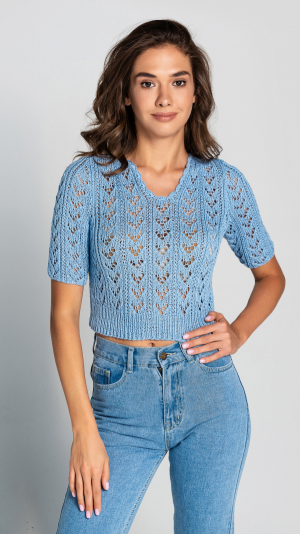 Knitted 100% cotton сrop top 1