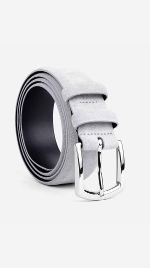 Classic Suede Belt Light Grey - Norberto 1