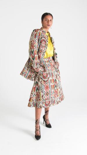 Multicolor Canvas Jacket with Pockets 2