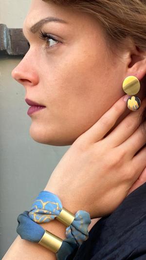 Dark blue jewelry set 1