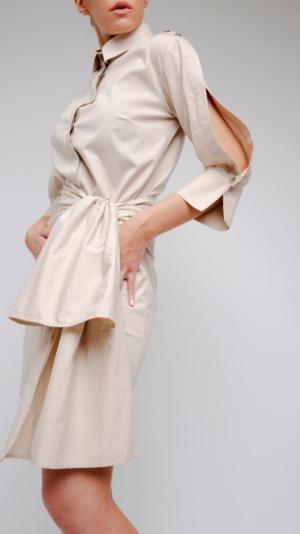 Beige Shirt Dress 2