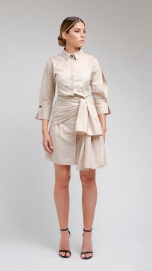 Beige Shirt Dress 1