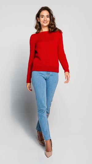 Burgundy Wool Women's warm sweater 2