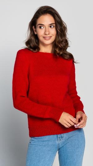 Burgundy Wool Women's warm sweater 1