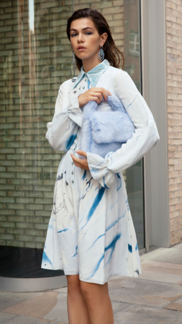 hand_marbled_silk_button_up_dress_blue_grey_2
