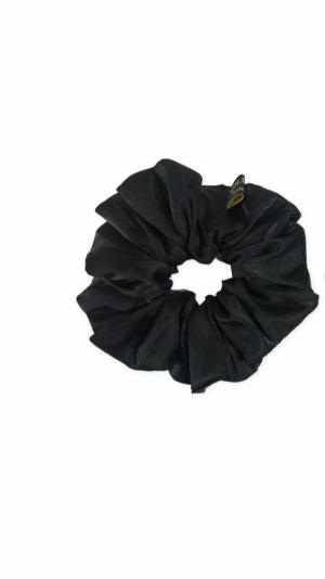 Black satin scrunchie 1