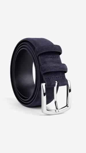 Classic Suede Belt Blue - Alfredo 1