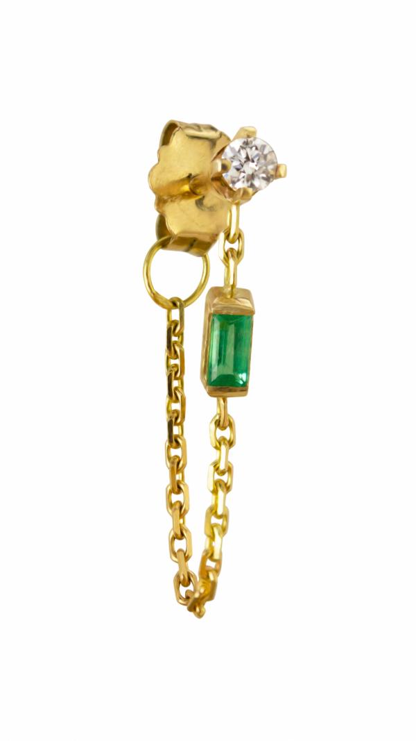 elfin_diamond_emerald_chain_earring_single_0