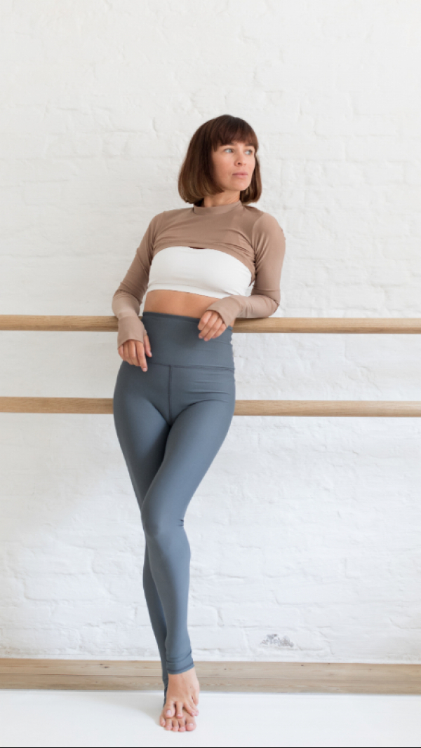 Combo Top With Long Sleeve And Leggince Way White-Grey-Beige 2