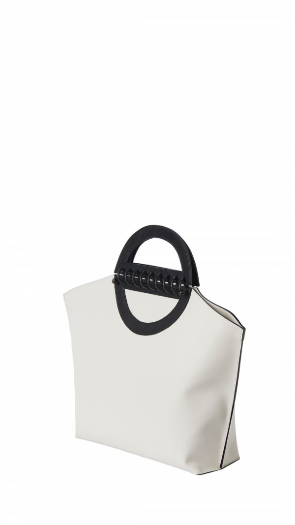 Large Leather Tote - Noble - Offwhite 2