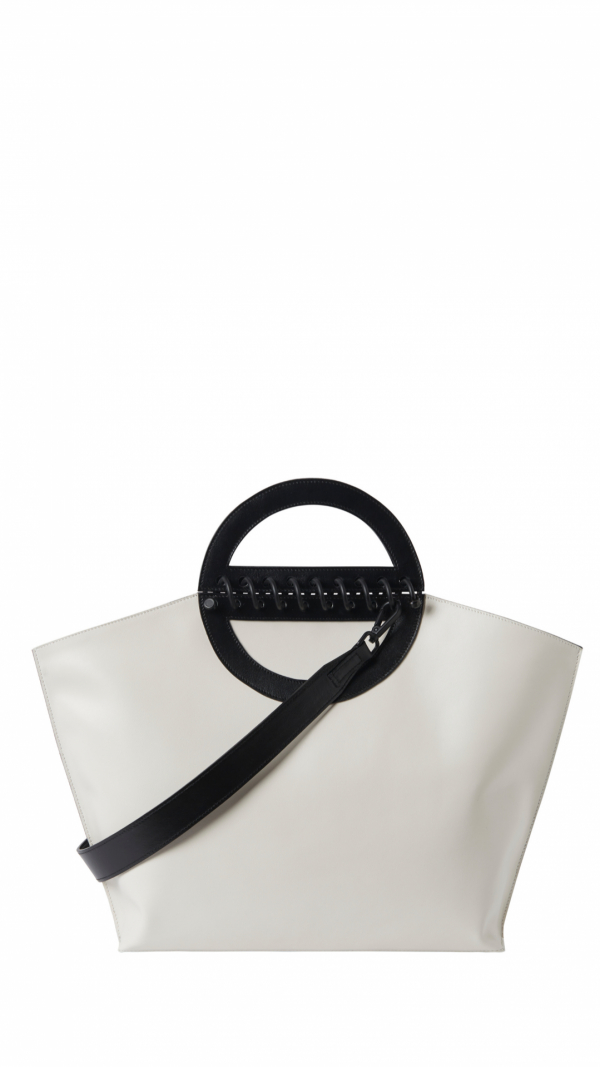 Large Leather Tote - Noble - Offwhite 1