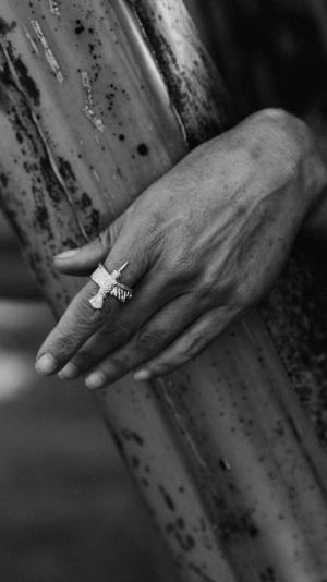 Ring Hummingbird Silver 2
