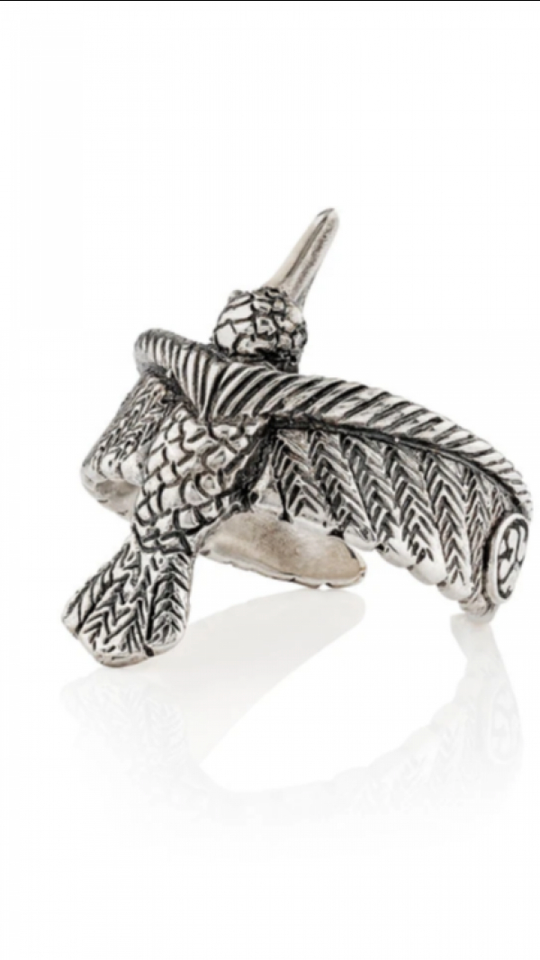 Ring Hummingbird Silver 1