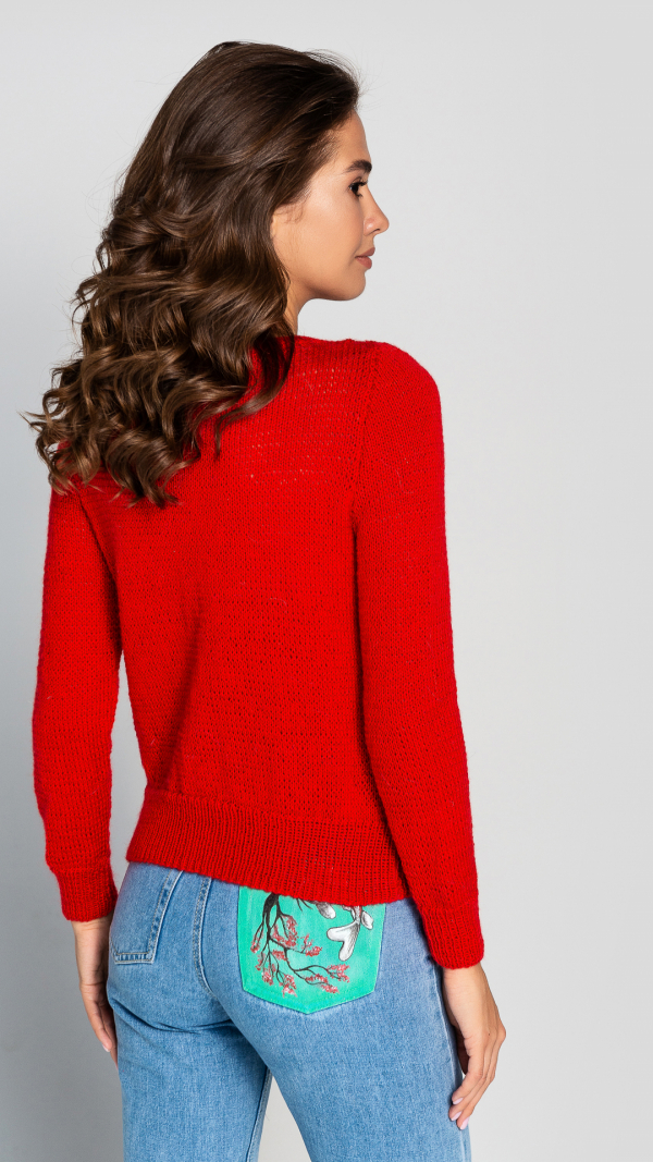 red_wool_womens_warm_sweater_hand_knitted_pullover_4