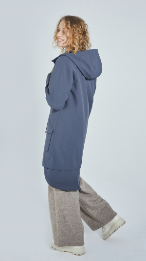 Unisex Grey City Raincoat - recycled materials 2