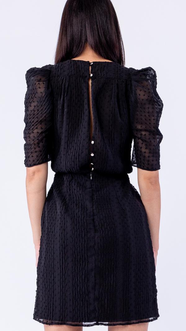 womens_warm_puff_sleeve_blue_wool_sweater