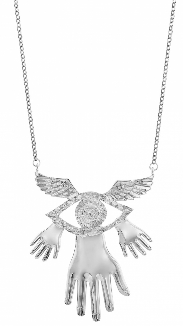 Necklace Hands Wings Eye 1