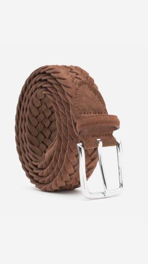 Braided Suede Belt Cognac - Gilberto 1