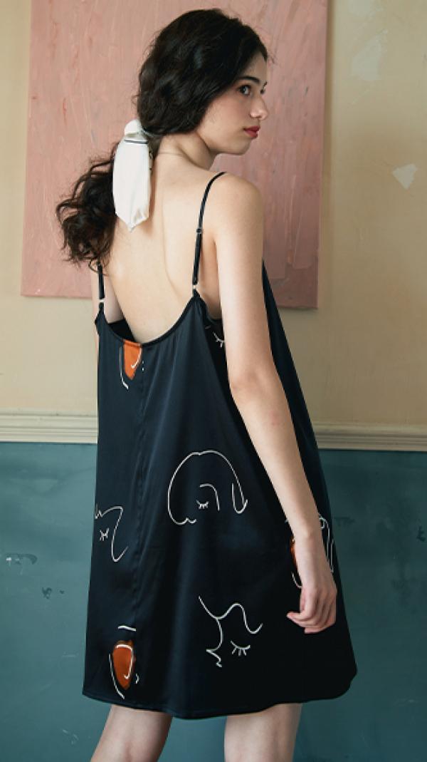 face_line_art_printed_silk_slip_dress_black_2