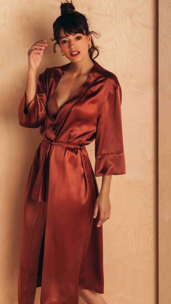 Silk Robe Kimono Style