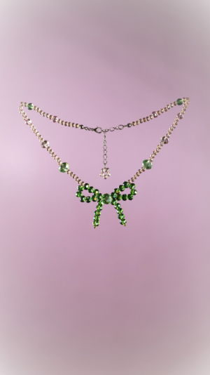 Green Bow Necklace 1