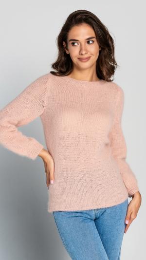 Fluffy Powder Angora Sweater 1