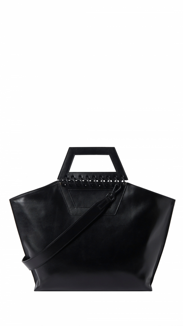 Large Leather Tote - Tempo - Black 1
