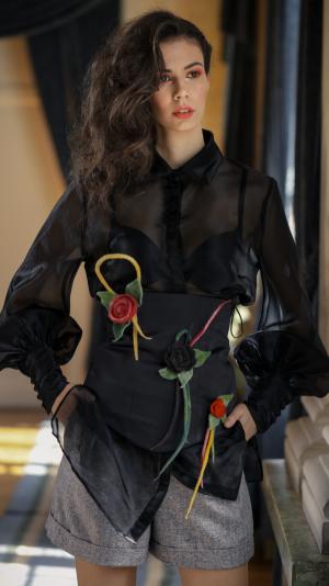 Corsette Belt with Floral Details