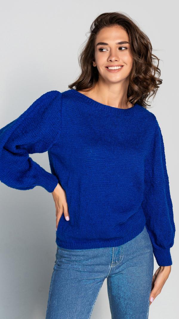 womens_warm_puff_sleeve_blue_wool_sweater_3