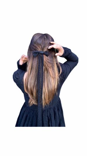 Charlotte hair bow clip 1